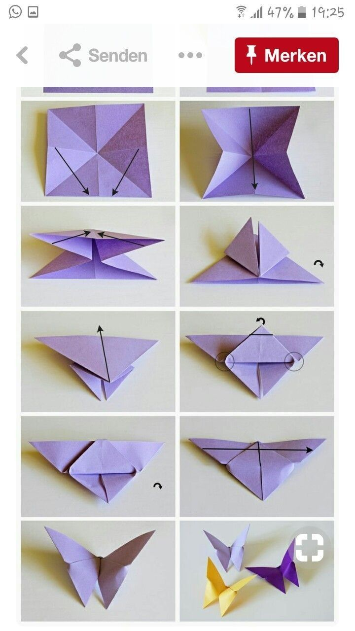 HOW TO MAKE AN EASY ORIGAMI BUTTERFLY. (With images) | Origami ... | 1280x720