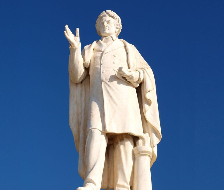 The statue of Dionysios Solomos in #Zante.