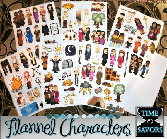 Flannel, Laminated or Printed Board Characters for Book of Mormon Stories