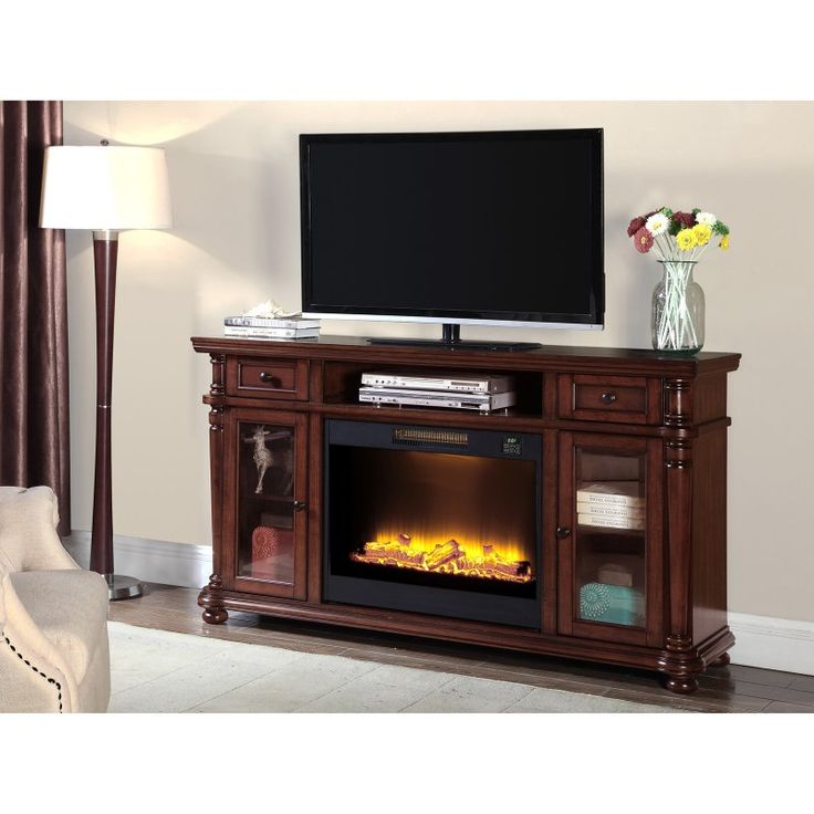 Simmons Rustic Cherry Electric Media Fireplace - 7532-42