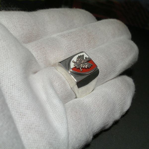 Srebrny Sygnet Patriotyczny|Polska|Silver Ring|Handmade|By Norman Man Jewellery