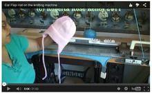 Вязание детской шапки с ушками на машине