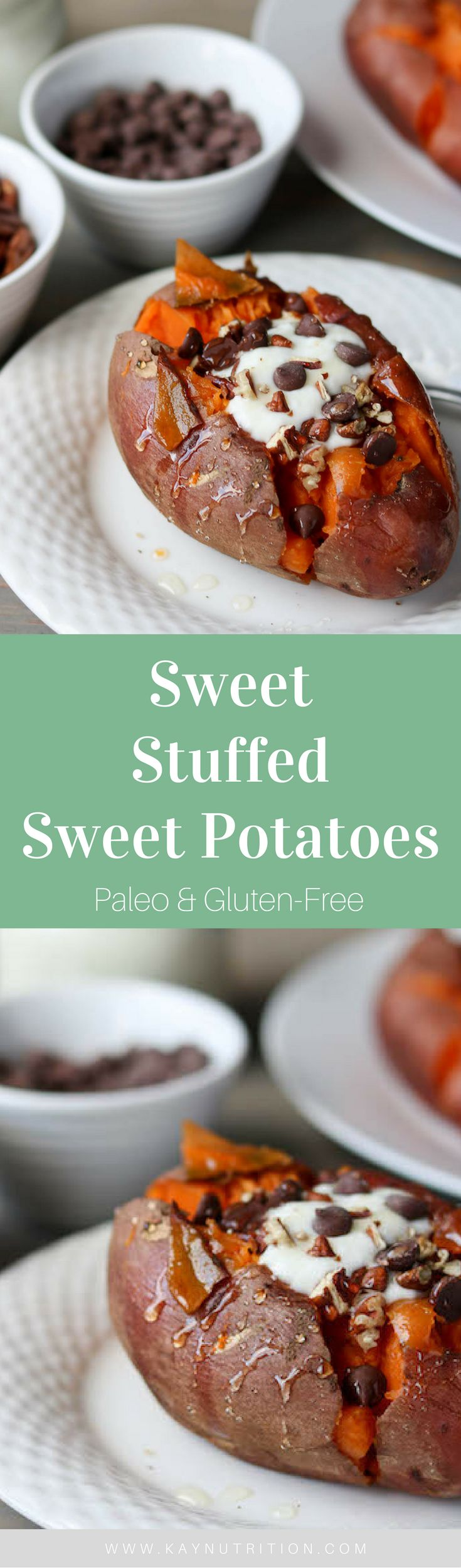 Who knew sweet potatoes could be a dessert? These Sweet Stuffed Sweet Potatoes are a tasty treat you can eat for dessert, snack and breakfast alike.