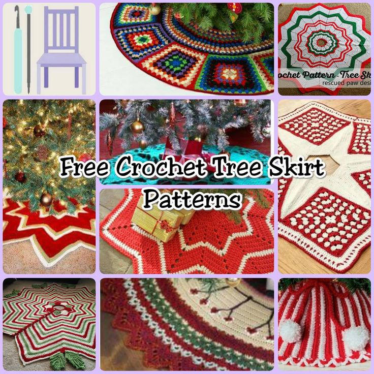 Free Crochet Tree Skirt Patterns - The Lavender Chair