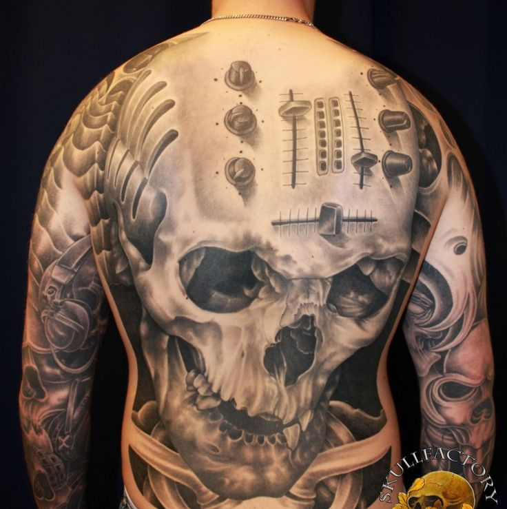Skull Back Piece: 564 Best Skull Tattoos Images On Pinterest