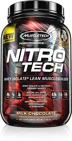 MuscleTech NITRO-TECH is an Ultra Pure Whey Isolate Enhanced With Creatine & Aminos! Get the Lowest Prices on NITRO-TECH at Bodybuilding.com!