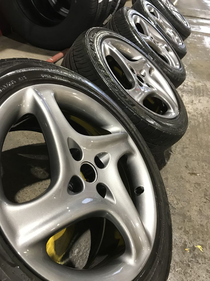 Classic Fiat Coupe 20v turbo limited edition alloy wheels in for a full bare metal refurb in factory anthracite. All ready for the show season. Boy these were rough. Still, back like New again and ready to take pride of place on what was dubbed the baby Ferrari in its day.