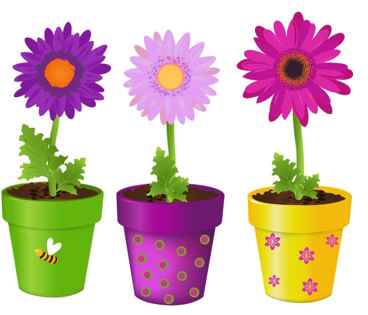 Картинки цветы в горшках для детей
