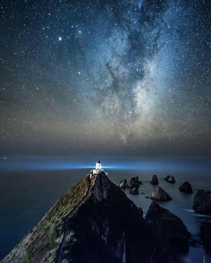 Faro di Nugget Point. Otago, Nuova Zelanda