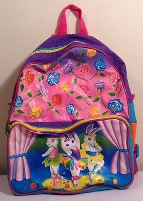 AS-IS Vintage Lisa Frank Dancing Rabbits Roses Backpack DAMAGED SEE PICS in Clothing, Shoes & Accessories, Kids' Clothing, Shoes & Accs, Girls' Accessories | eBay