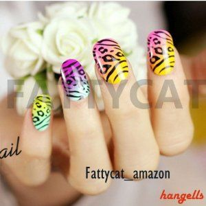 T.T. GORGEOUS PARTY JAPANESE 3D NAIL ART 24 nails Sold By FATTYCAT by FATTYCAT-2D. $10.99. Find more FATTYCAT's products: http://www.amazon.com/shops/A1GBEMJFT8C30R/ref=aag_m_ss. Double-sided Adhesive. 24 PIECES/BOX in 2D. ** Come with Double-sided adhesive sheet  How to apply effectively:   1. Clean your nail, remove old polish on your nails  2.  Select the right size tips and double-sided adhesive sheets for all ten fingers and arrange them in the sequence they will be applied...