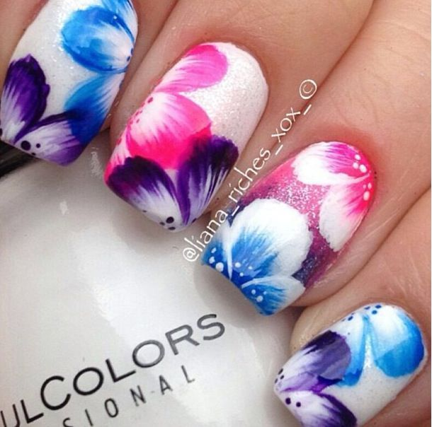 flower nail designs   Nails - flowers