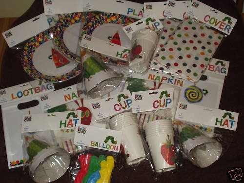 Very hungry caterpillar birthday party supplies