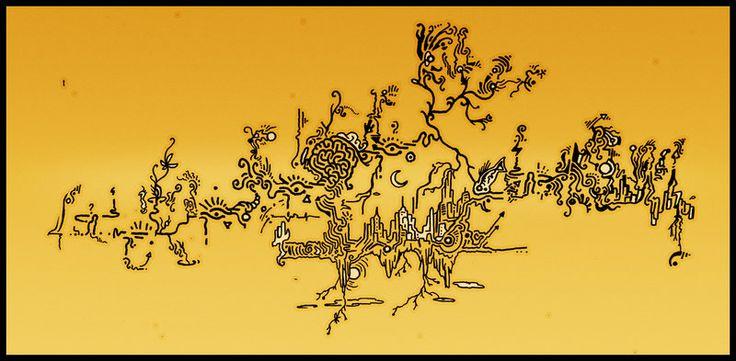 TRIP NEW UTOPIA acid yellow by ACIDdrawings.deviantart.com