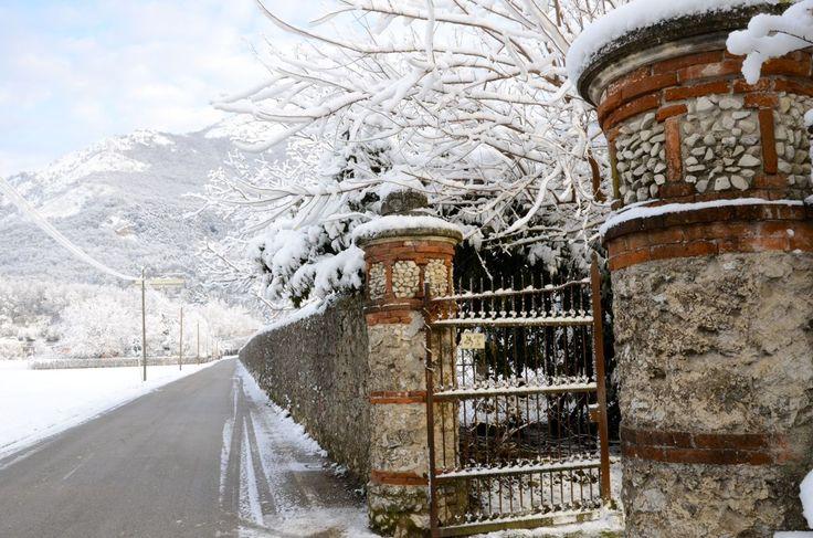 Mura esterne del Podere Modello | Parco di Villa Rossi   (Santorso, Vicenza)