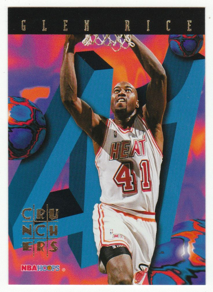 Glen Rice # 20 - 1995-96 Skybox Hoops Basketball Number Crunchers