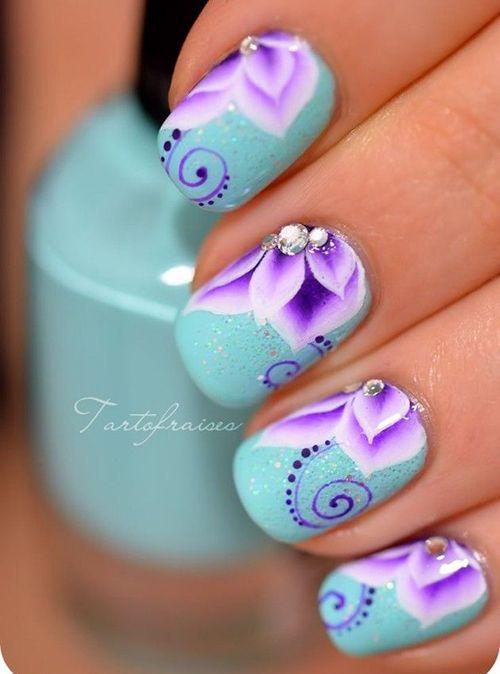 130 best Flower Nail Designs images on Pinterest   Nail scissors ...