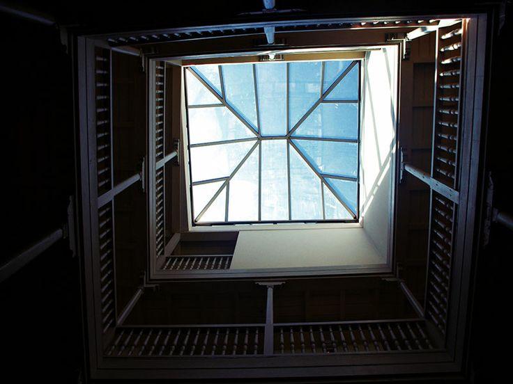 Lucernario del Patio del Palacio de los Navas, Hotel con Encanto en el centro de Granada