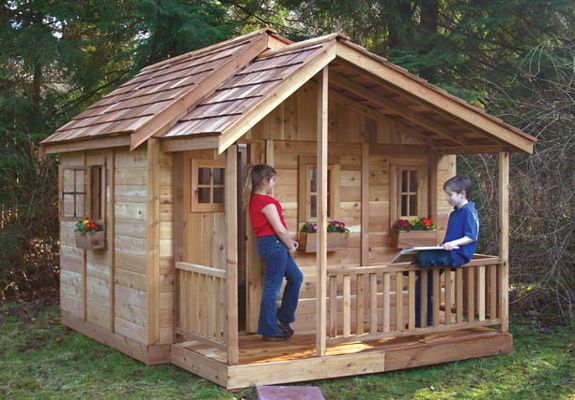 Best 25 wooden playhouse kits ideas on pinterest for Outdoor playhouse kit