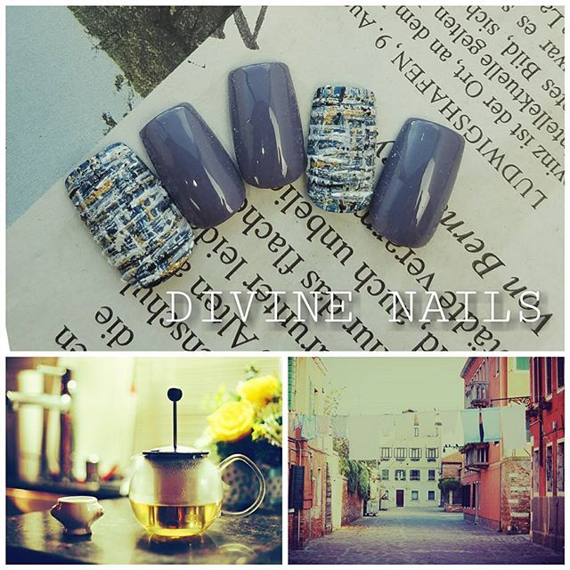 #nail#nails#nailart#ネイル#ネイルアート#ネイルチップ#秋ネイル#冬ネイル#サンディジェル#ツイードネイル#カジュアル#カジュアルネイル#美甲 #セルフネイル#横浜ネイルサロン