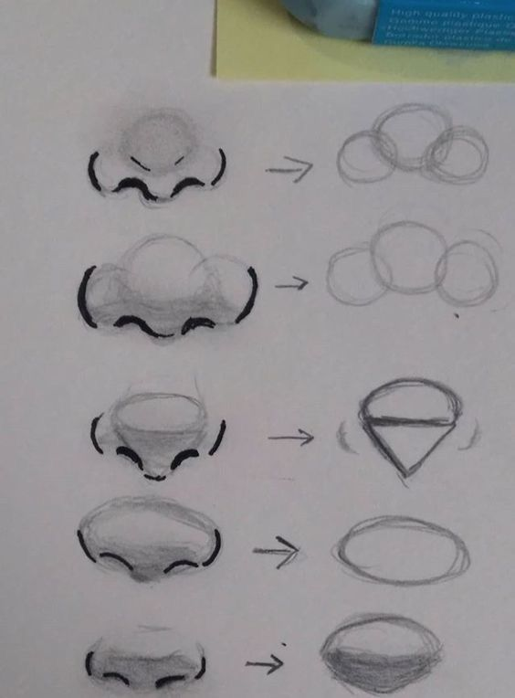 Some simple nose drawing techniques