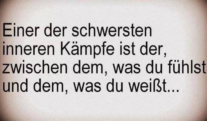 german quote: One of the hardest fights is the one between what you feel and what you know - more funny things: http://hotfunnystuff.com