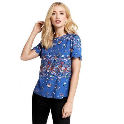 Oasis Blue disty t-shirt | Debenhams