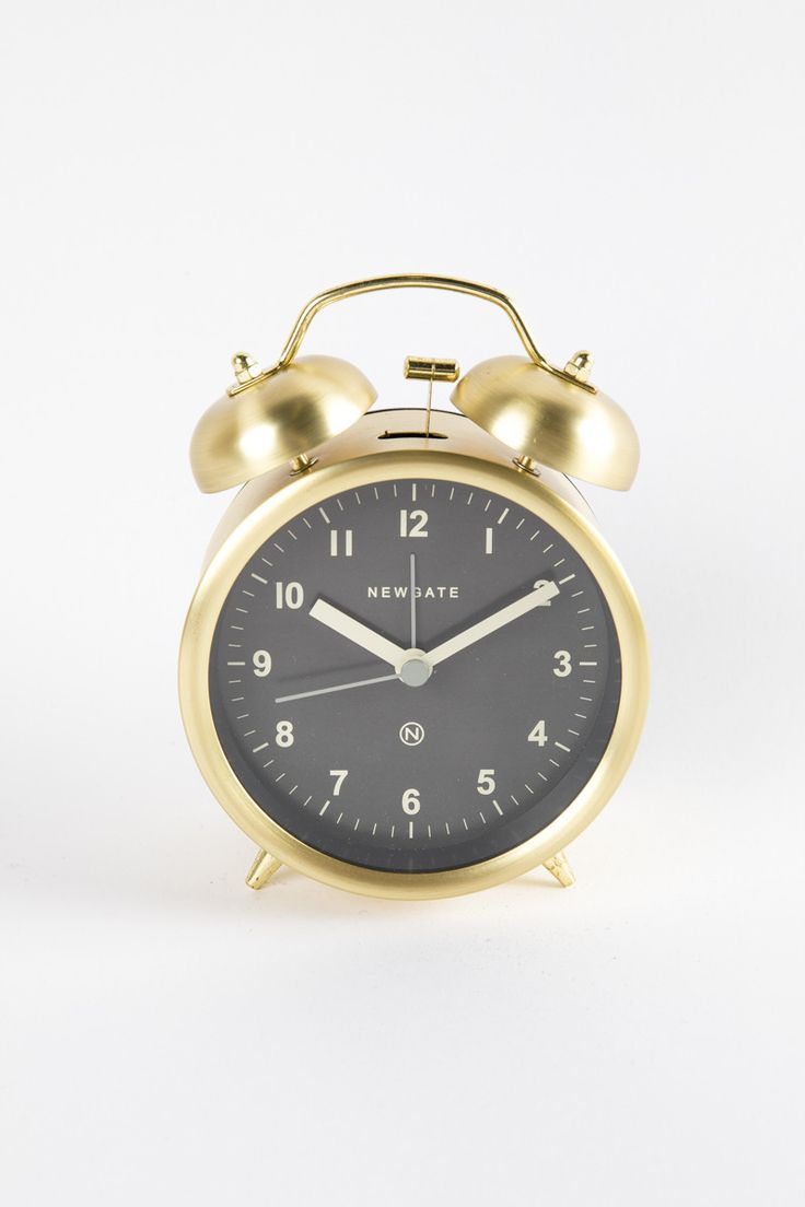HOME: Newgate Charlie Bell Alarm Clock in Radial Brass