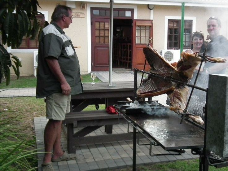 """We here at Dibiki held a wonderful birthday """"spit"""" the past weekend. Lots of fun and laughter.  Visit our website: http://bit.ly/1cXzrm6 We can arrange a nice party for you. #activities #spitbraai #mosselbay"""