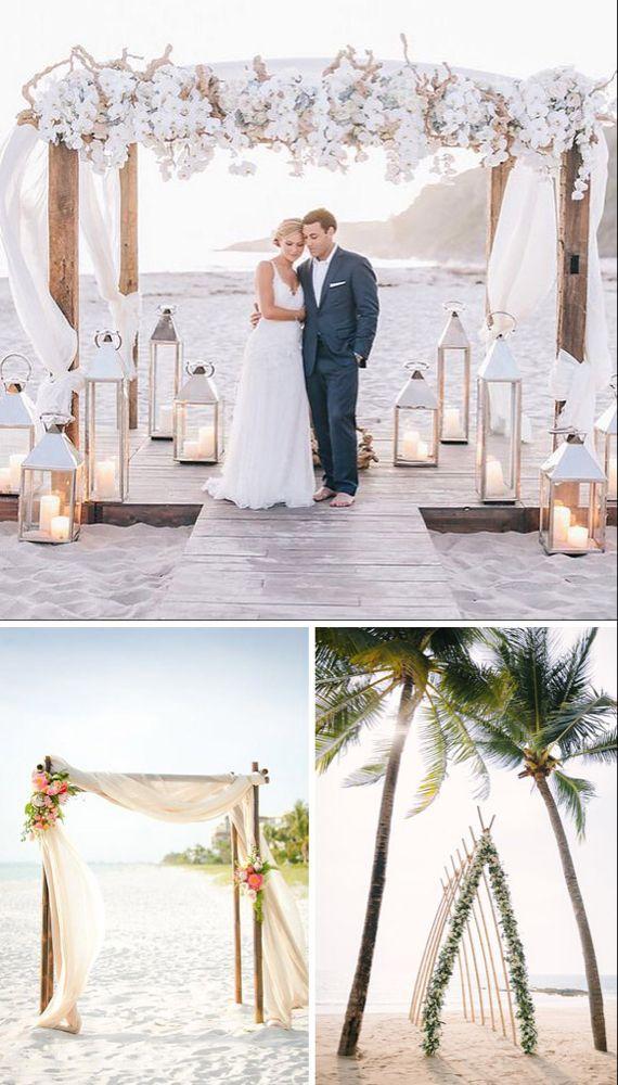 Ideas para decorar el altar de tu boda – My CMS Beach Wedding Aisles, Wedding Altars, Beach Wedding Photos, Beach Ceremony, Wedding Ceremony Decorations, Wedding Venues, Beach Weddings, Wedding Tips, Diy Wedding