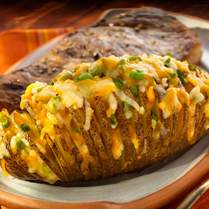 Cheddar Horseradish Hasselback Potatoes Recipe Side Dishes w..