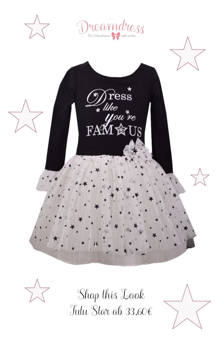 Tutu Star for Fashion Girls. #mädchenmode, #GirlsFashion, #LittleDiva, #Tutu, #TutuFashion, #LittleBlackDress, #Festtagsmode