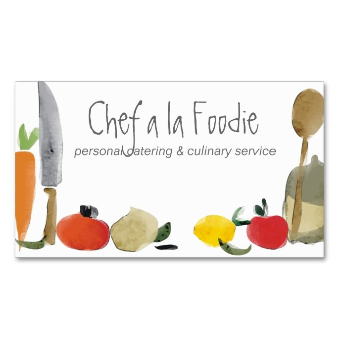 Food cooking utensils chef catering business cards - Utensilios de chef ...