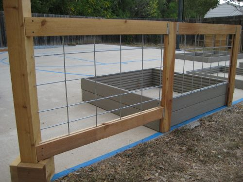 fence using cattle or hog panels or use chicken wire for a more lacy approach