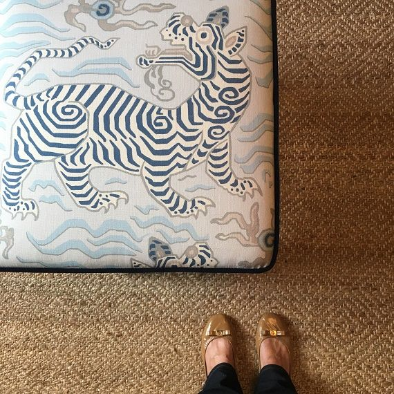 X bench // clarence house tibet print // by @simplifiedbee