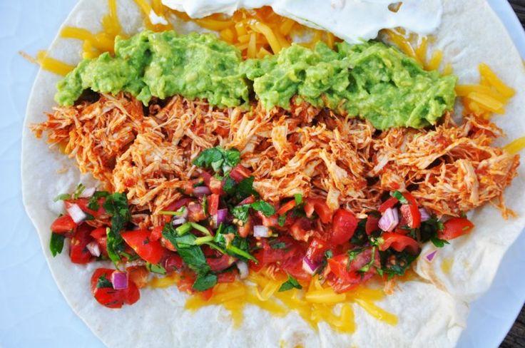 Shredded kylling til burritos og taco, Mexico,Andet, Hovedret, Kylling, opskrift