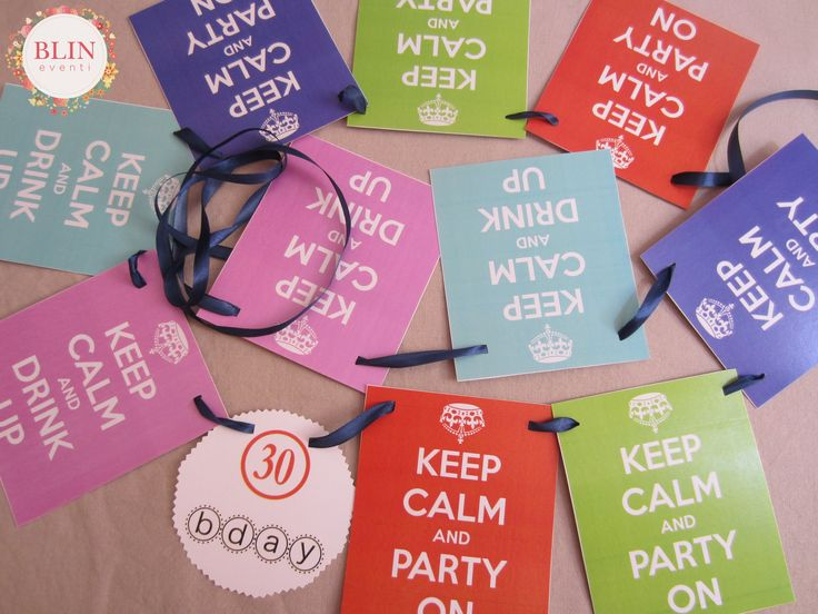 Keep Calm Party by Blin Eventi http://www.blineventi.it/