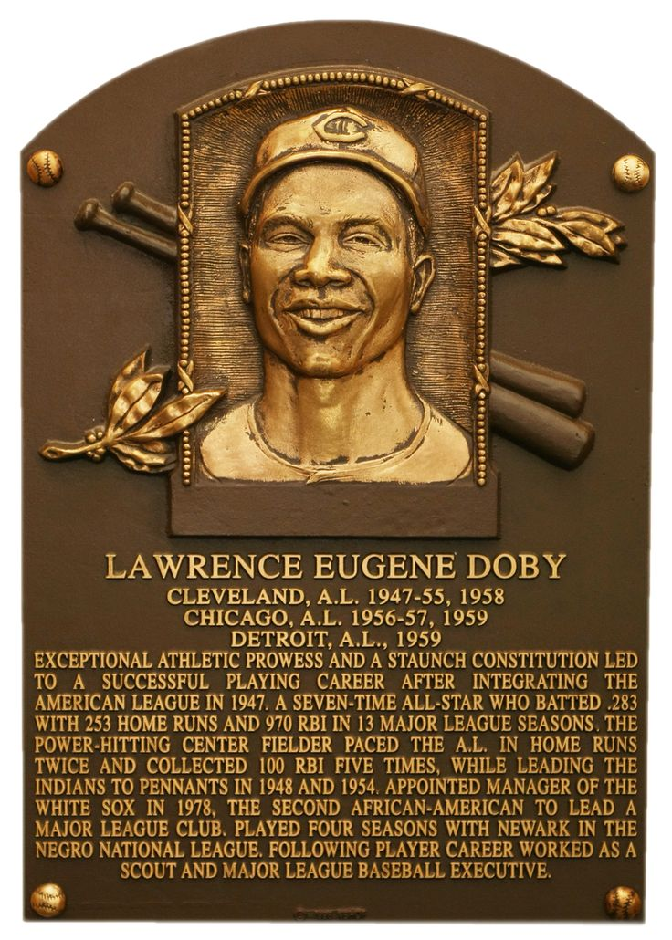 Larry Doby: Baseball Hall of Fame - 1998