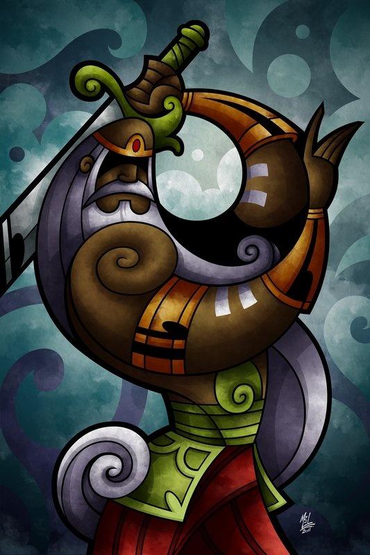 Linda essa arte sobre OGUM - Porque hoje é dia de Papai no mês de Papai! OGUNHÊ! PATACORI! - Fonte: Ogum (Orixás do Brasil) - UrbanArts
