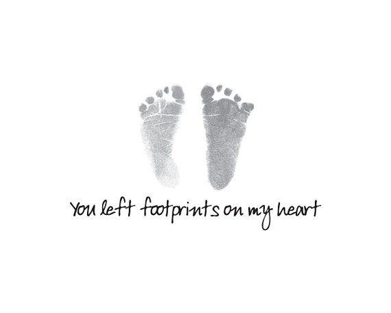 You left footprints on my heart by SweetLemonArt on Etsy, $18.00