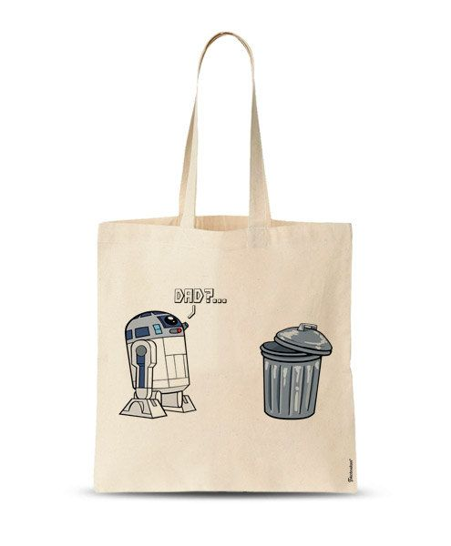 R2D2 Tote Bag Star Wars bag unique tote bag funny tote by store365