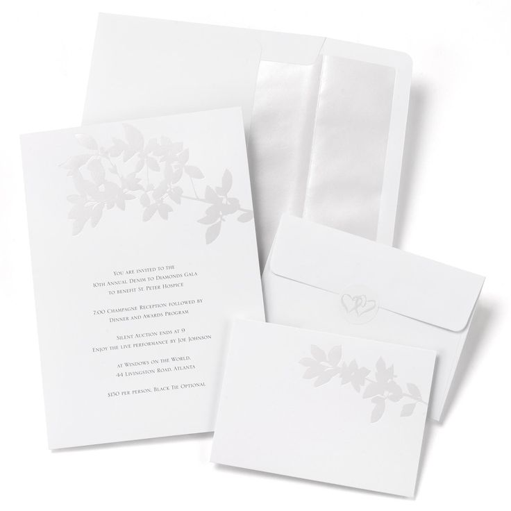Pearl Leaves Wedding Invitation Kit includes 50of