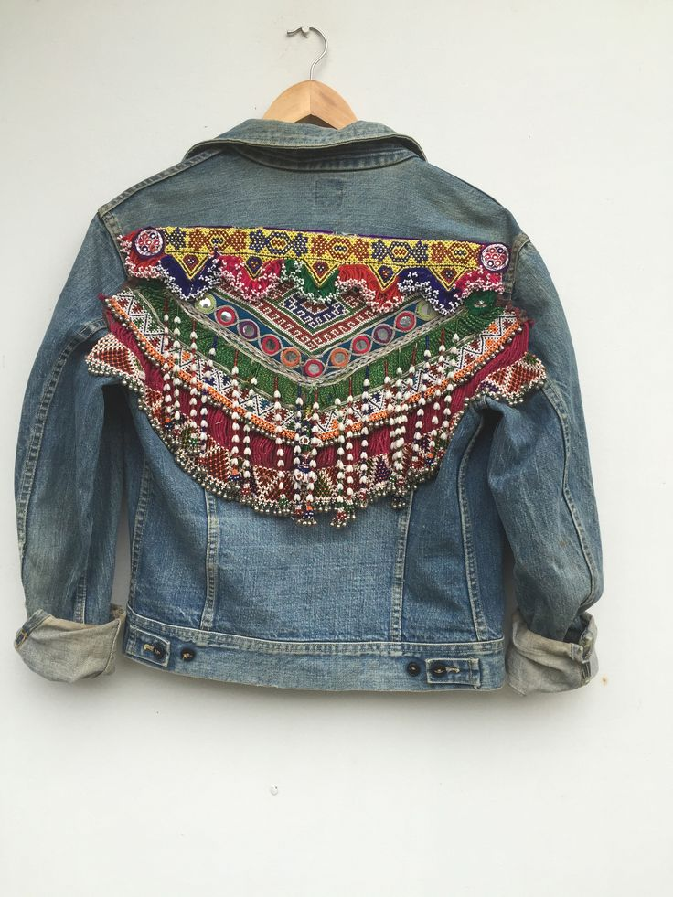 GR vintage embellished denim jacket.