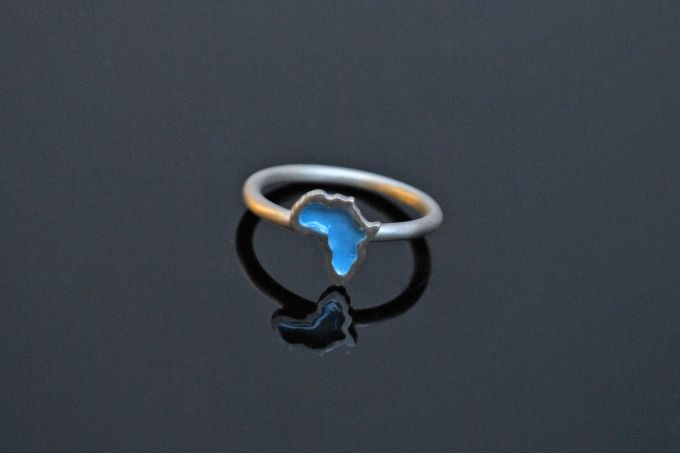 Baby Africa Ring- Turquoise (Sterling Silver) by Duke & Dutch on hellopretty.co.za