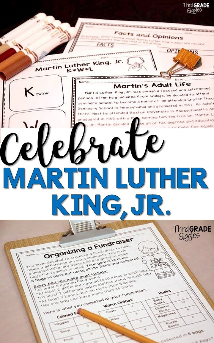 This no-prep Martin Luther King, Jr. pack is perfect to teach your students all about this important American holiday this January. This pack is a great mix of reading, writing, and math activities. Activities and projects require students to draw conclusions and encourage critical thinking.