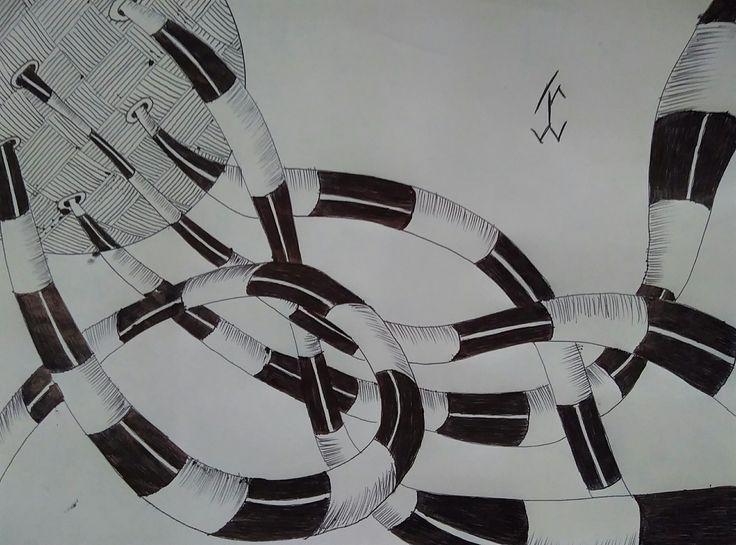 ShapeDoodle03 #followewrs #instagram  #zentangle #3d #drawing #draw #pen #art  #ink #inkwork #zentangles #zentangleart #shape #shapes #mandala #mandalas