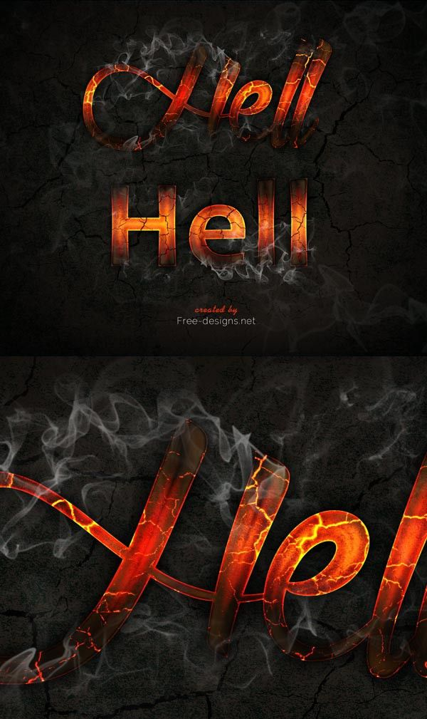 Free-designs.net - Photoshop fire text effects   Text effects PSD ...