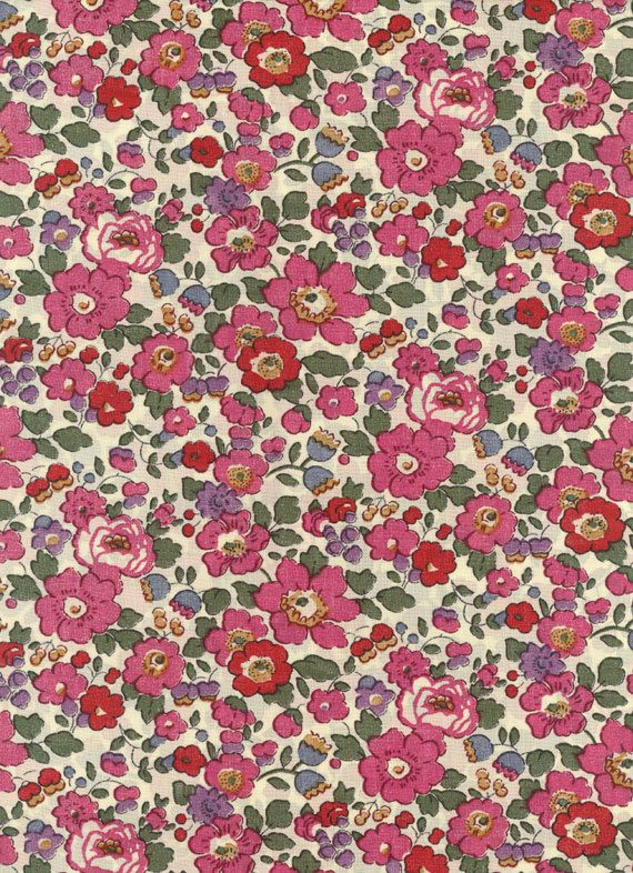Liberty of London fabric tana lawn Betsy in Pink 6 x 27. $4.20, via Etsy.