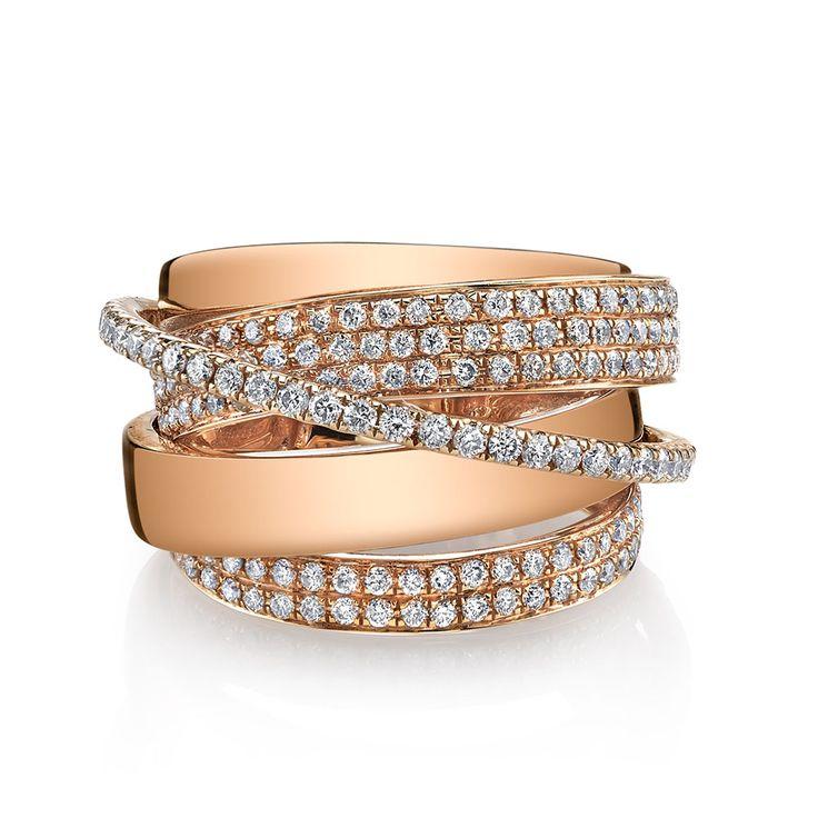 Diamond Orbit Ring