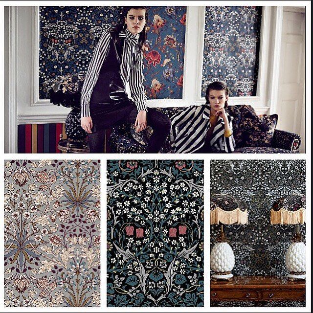 House of Hackney goes William Morris at Engelska Tapetmagasinet online. Tapet Wallpaper
